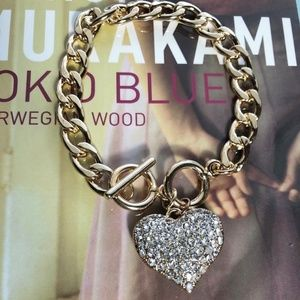 3 FOR 35 GOLD CHUNKY LINK DIAMOND BRACELET